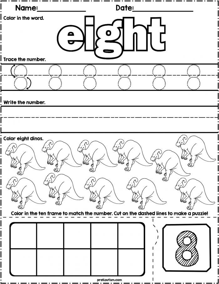 Pre K Autism Worksheets