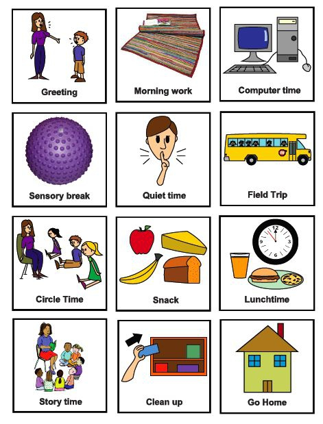 Free Printable Visual Cue Cards For Autism