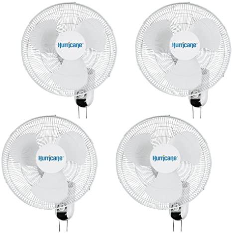 Amazoncom Hurricane Fans Classic Wall Mount Oscillating Fan