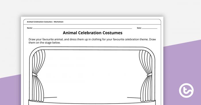 Animal Celebration Costumes Worksheet Teaching Resource