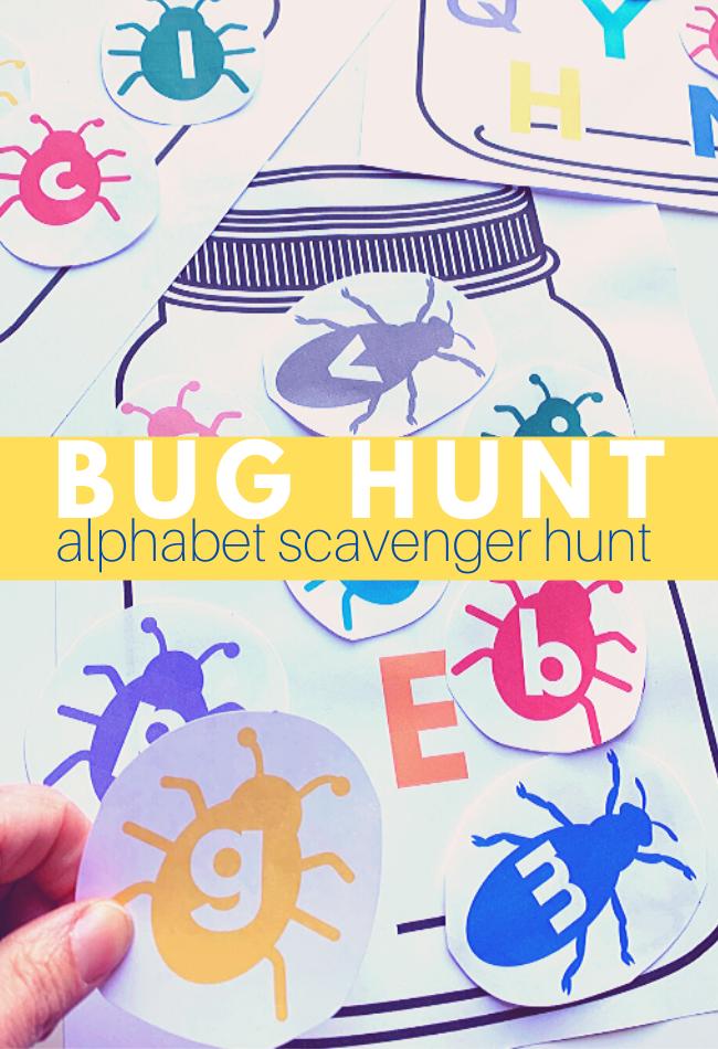 Bug Alphabet Scavenger Hunt