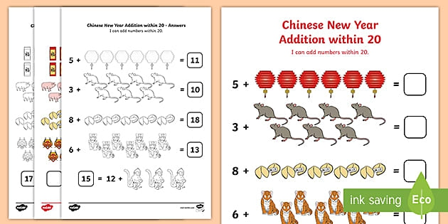 Chinese New Year Addition And Subtraction Within Maths