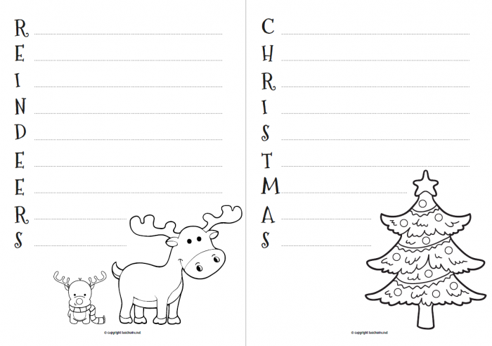 Christmas Acrostic Poems Worksheet For Primary