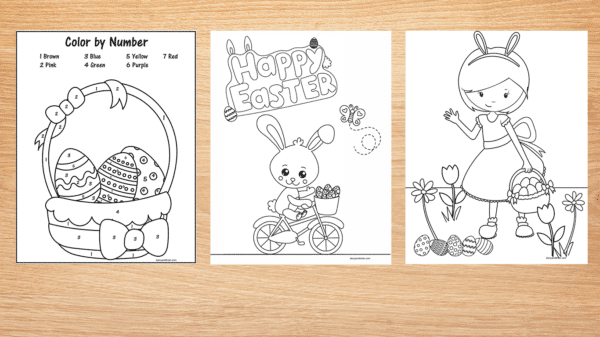 Color By Number Easter Basket Printable