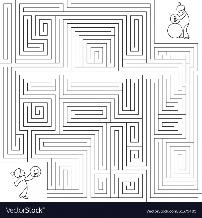 Complex Puzzle Winter Maze Labyrinth Linear Puzzle