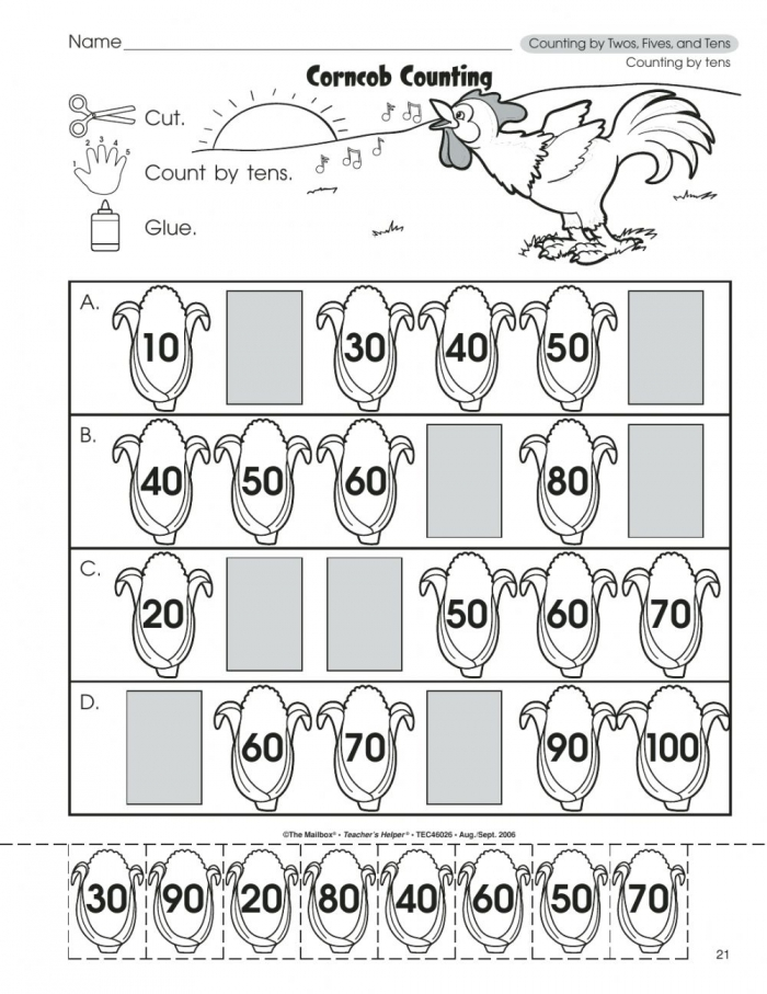 Counting By Tens Exercise