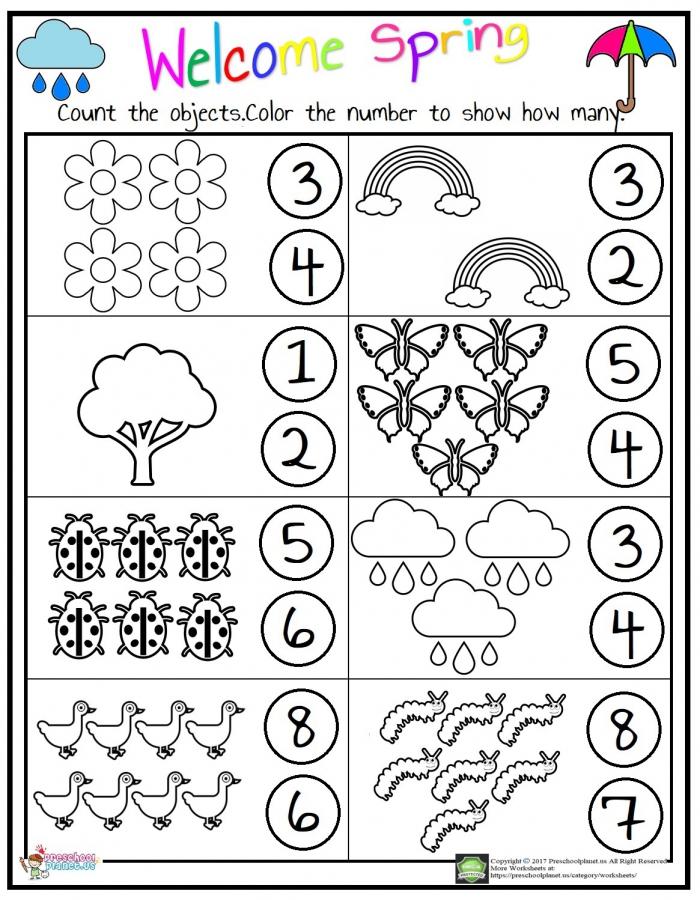 Counting Worksheet Preschoolplanet