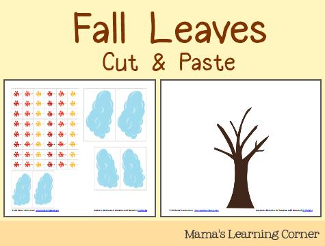 Cut Paste Fall Leaves