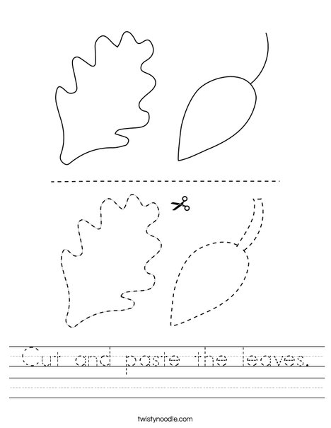 Cut And Paste The Leaves Worksheet