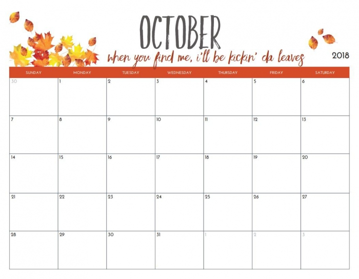 Design October Calendar