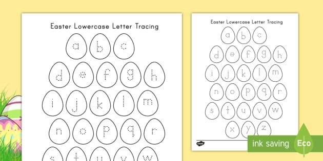 Easter Lowercase Alphabet Tracing Teacher Made