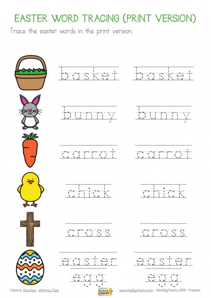 Easter Writing Worksheets And Ebook