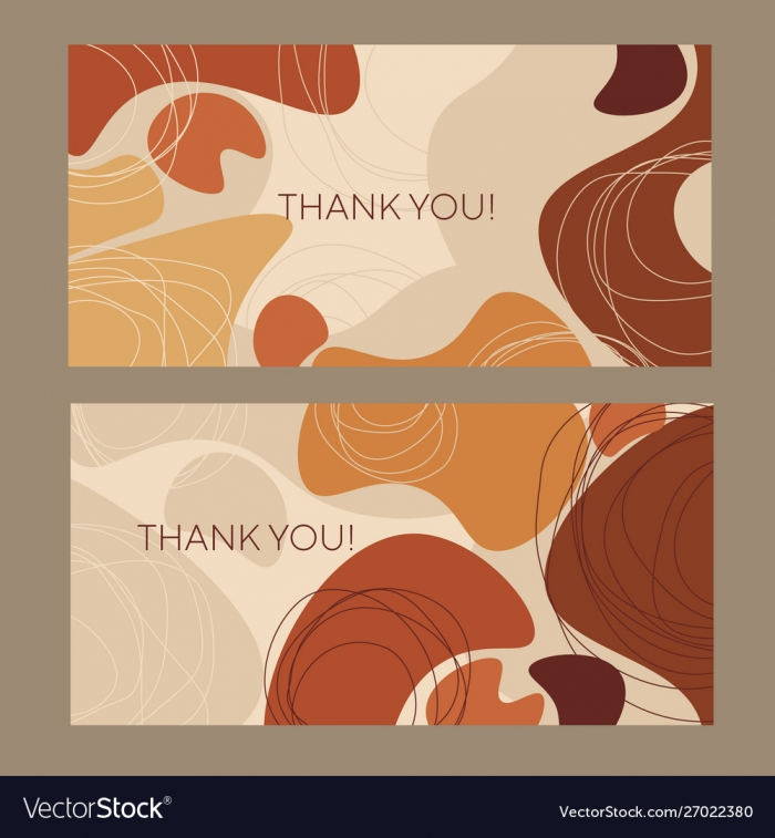 Fall Colors Organic Shapes Horizontal Composition Vector Image