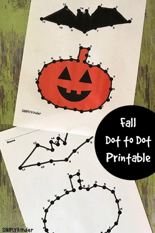 Fall Printable Dot To Dot Worksheet