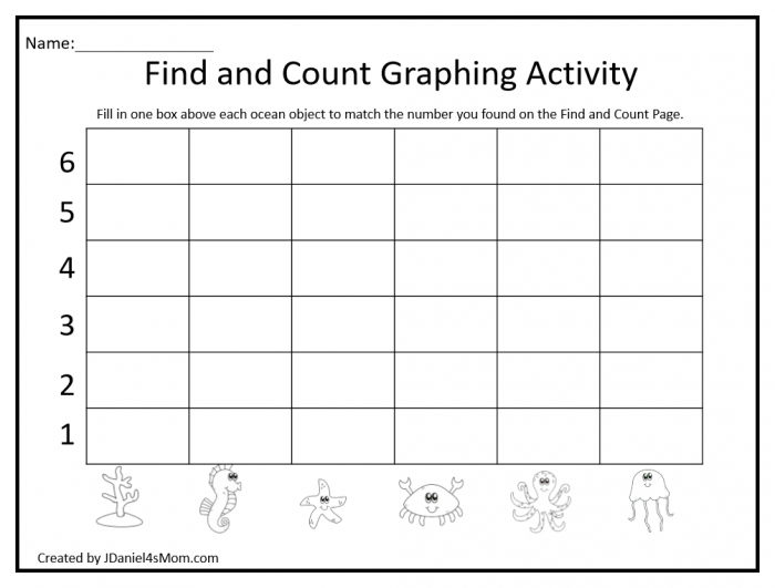 Find Count And Create A Bar Graph With Ocean Objects Printables