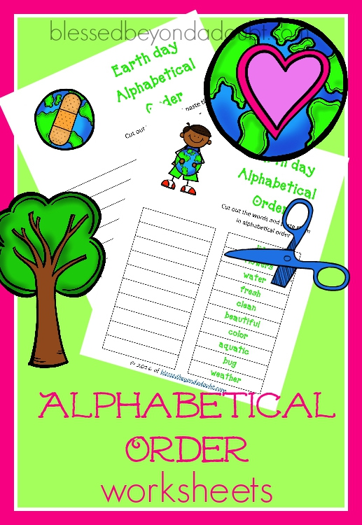 Free Alphabetical Order Printables Earth Day Edition