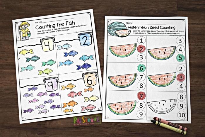 Free Summer Math Worksheets For Preschool