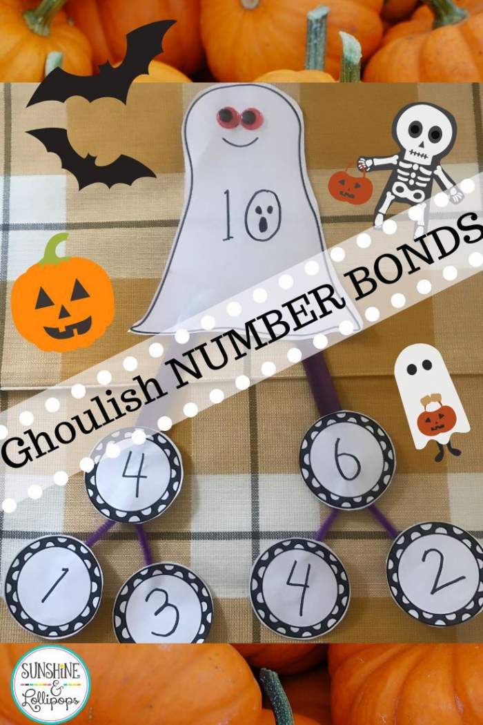 Halloween Math Number Bonds Worksheets And Craft