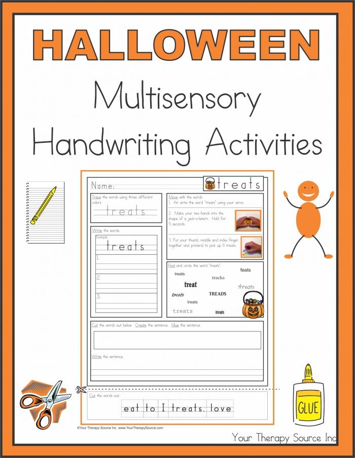 Halloween Multisensory Handwriting Activities