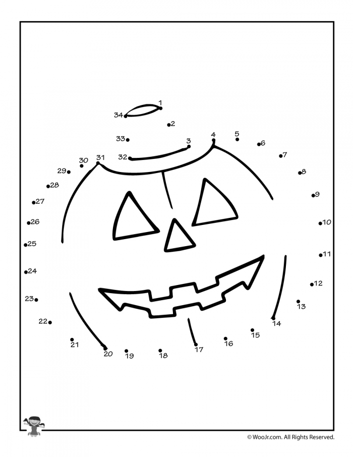 Jack O Lantern Connect The Dots