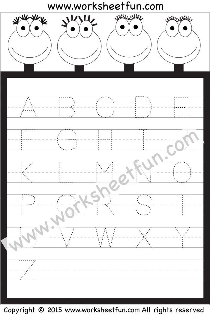 Letter Tracing Worksheet Capital Letters Free Printable