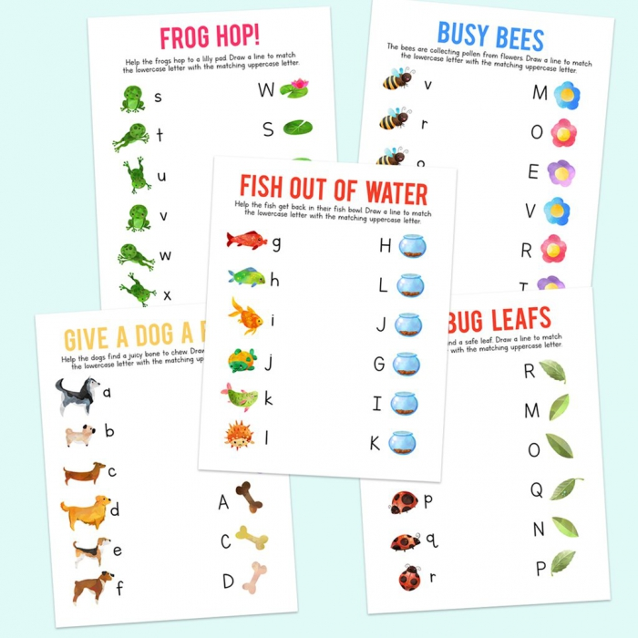 Lowercase And Uppercase Letter Matching Worksheets
