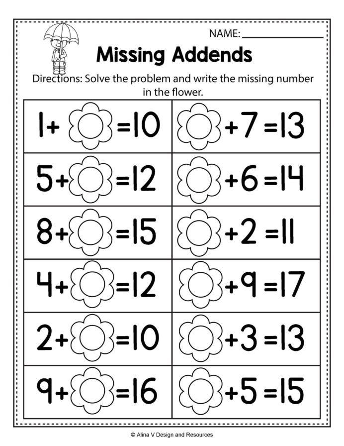 Monthly Archives September Spring Math Worksheets Preschool High