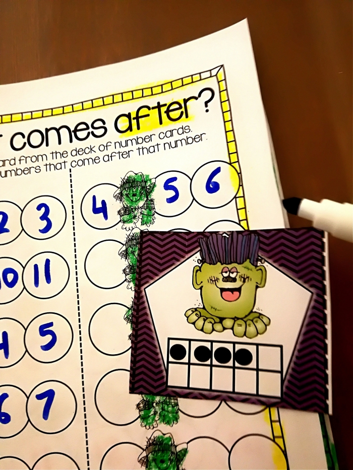 Numbers Before And After A Fun Frankenstein Themed Math Center