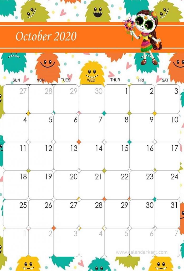 October Calendar Halloween Theme