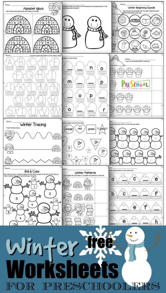 Preschool Winter Free Worksheets