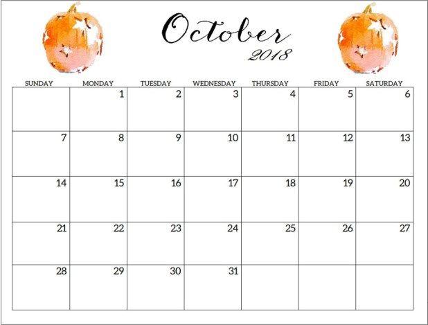 Print Halloween Calendar October