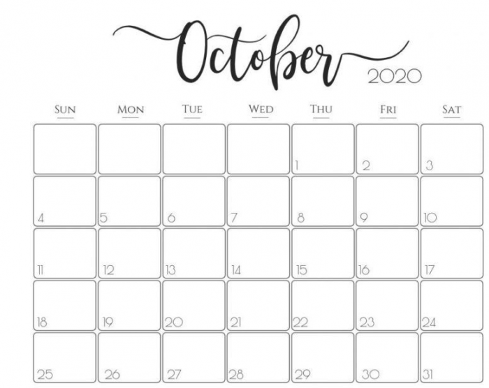 Printable October Calendar Pdf Word Excel