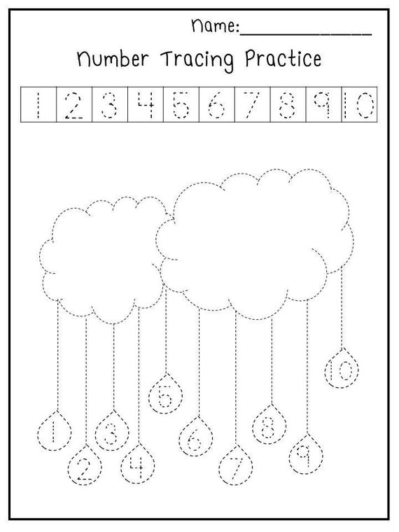 Printable Spring Trace The Numbers Worksheets