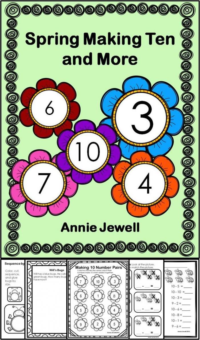 Spring Kindergarten Math Activities And Worksheets