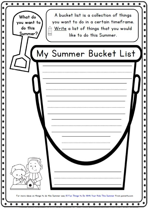 Summer Writing Printables For K