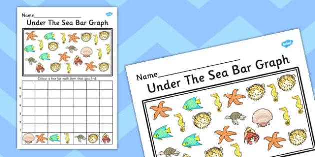 Under The Sea Bar Graph Activity Worksheet Teacher Made
