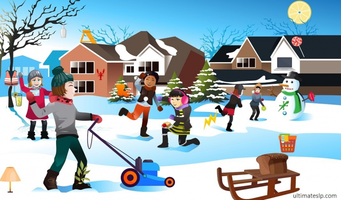 Whats Wrong Picture With Initial L Words Winter Scene