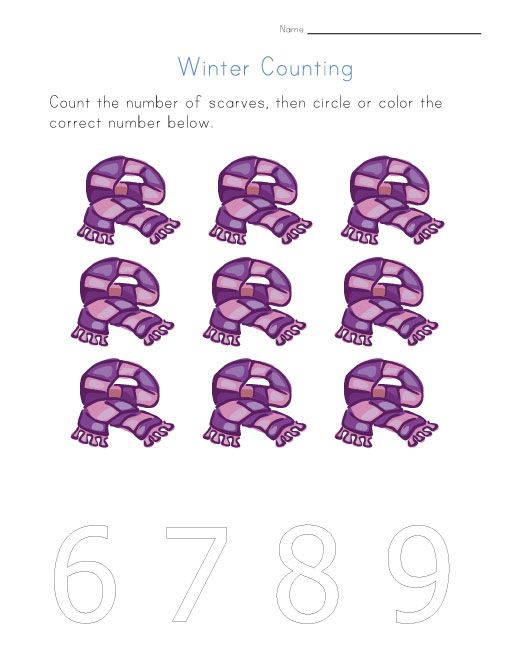 Winter Counting Worksheet