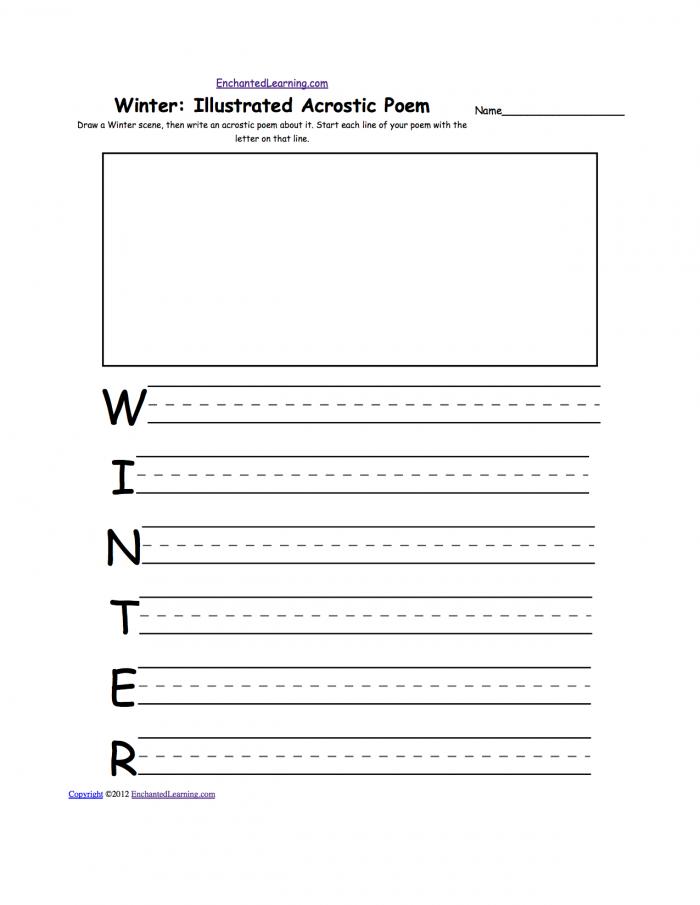 Writing Worksheets Winter K