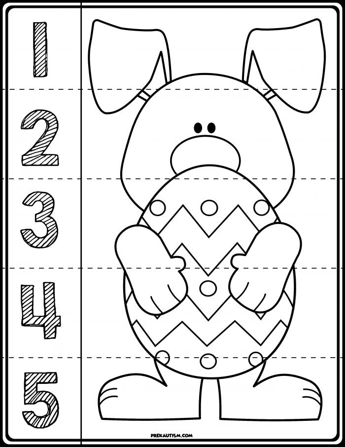 Easter Number Line Worksheets