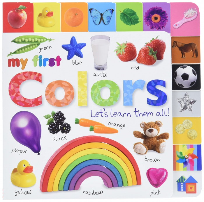 Amazoncom Tabbed Board Books My First Colors Lets Learn Them