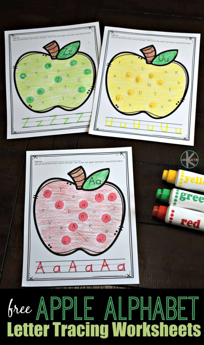 Fall Alphabet Tracing Worksheets
