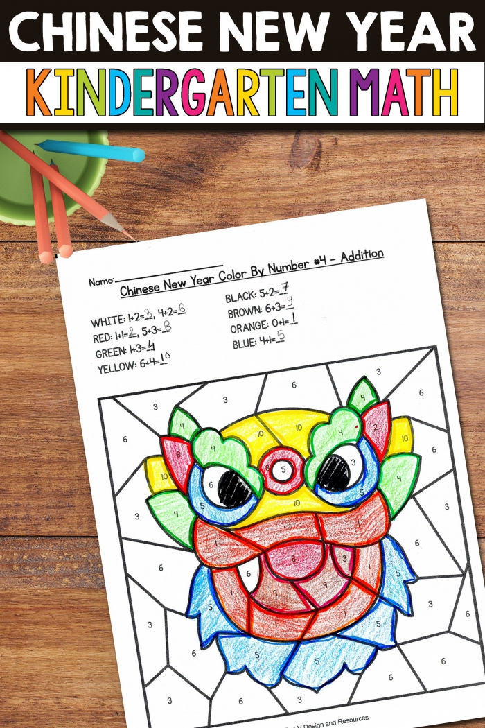 New Year Worksheets – Number Five
