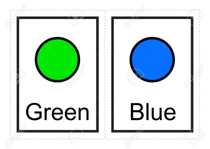 Color Flash Cards For Kids Learn About Colors And Their Names