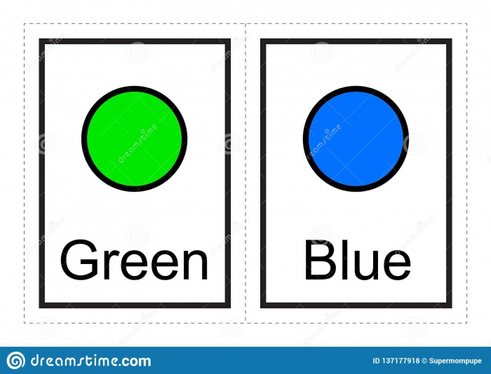 Color Flash Cards For Kids Learn About Colors And Their Names With
