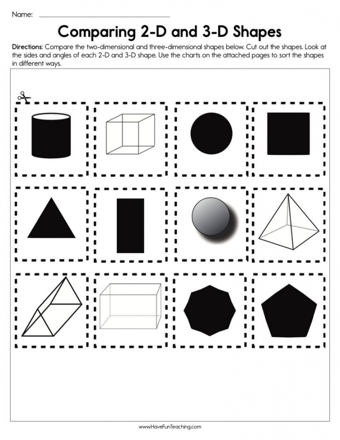 Different Shape Worksheets – Black And White