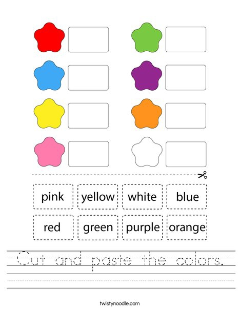 Cut And Paste The Colors Worksheet