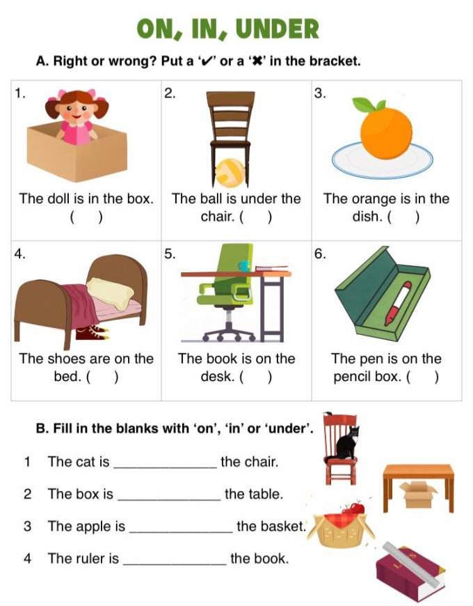 Design Beautiful Grammar Worksheets For Children Aged To By