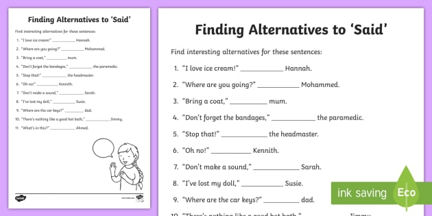 Different Word Worksheets