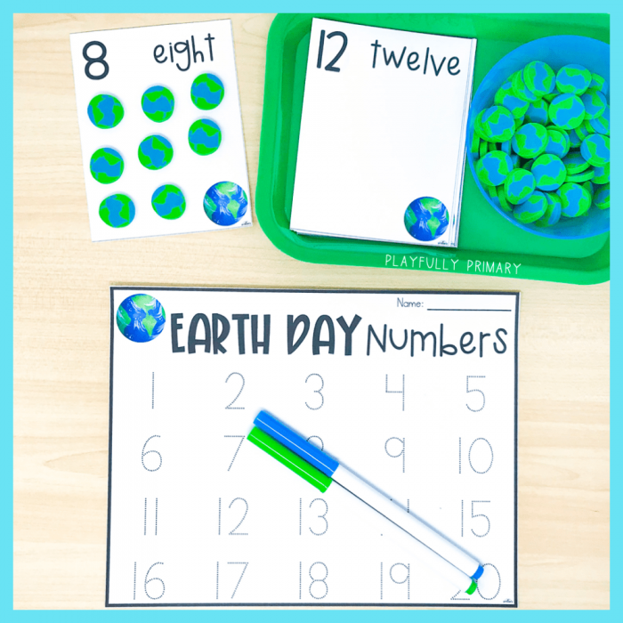 Earth Day Worksheets – Counting Twelve